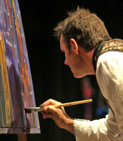 Live art performance art artist designer
