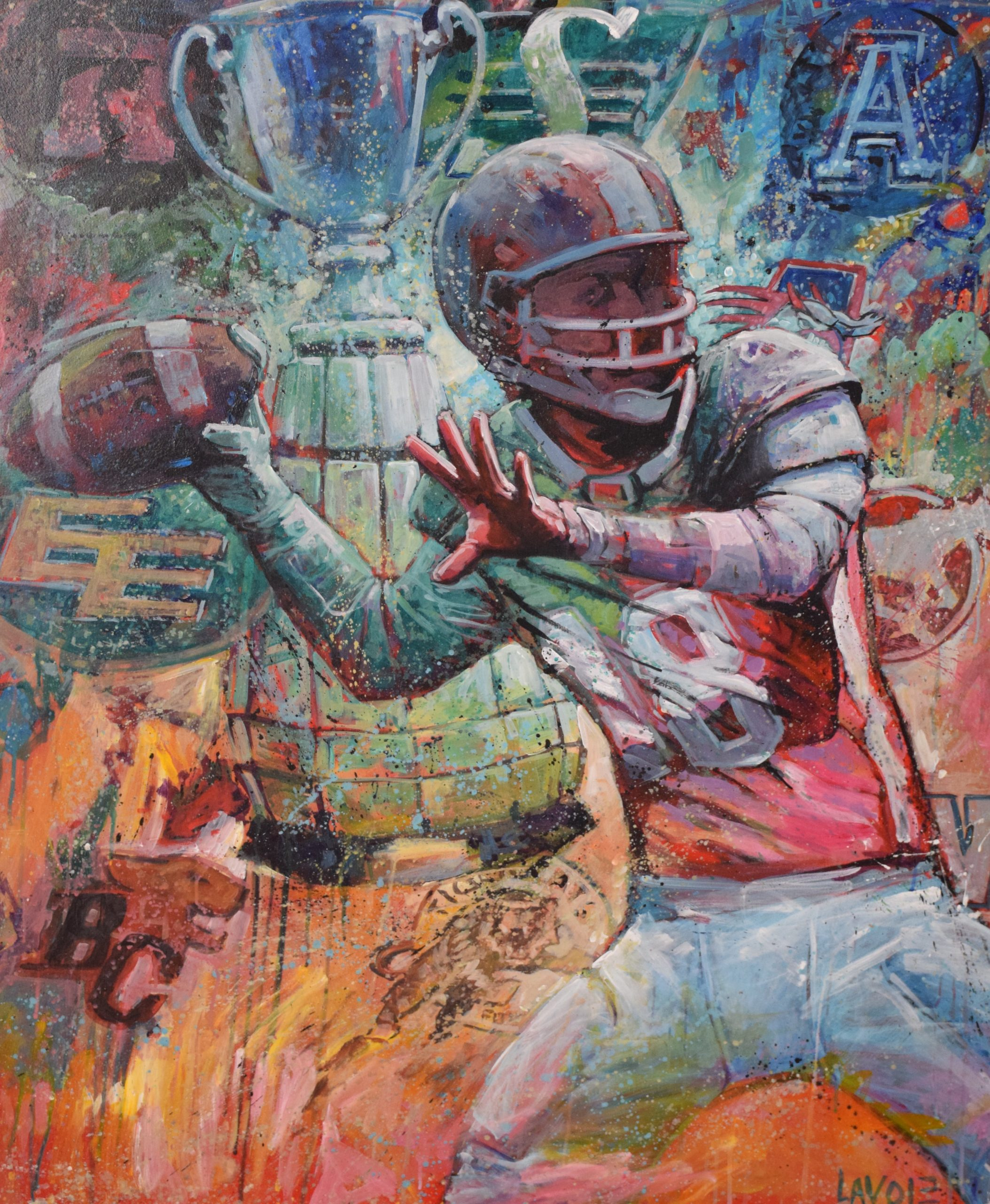 Spirit of Edmonton Grey up live art sports art