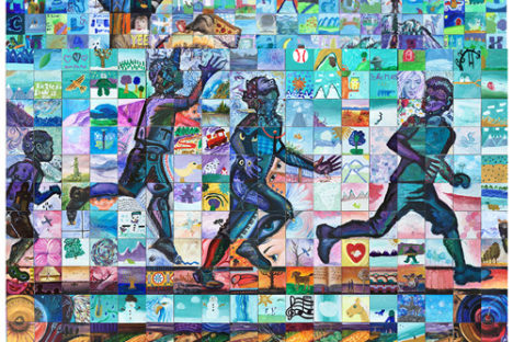 Cochrane Alberta Canada 150 mural