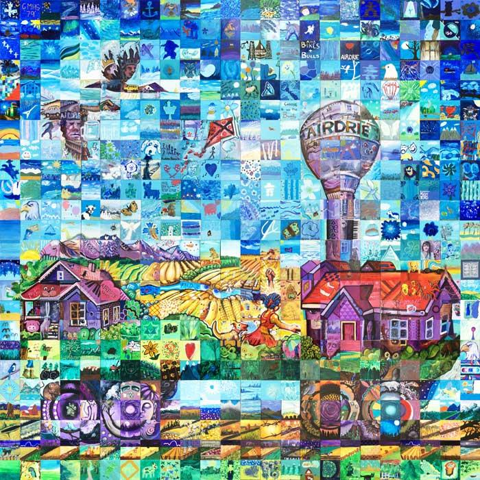 Aidrie Alberta Canada 150 mural