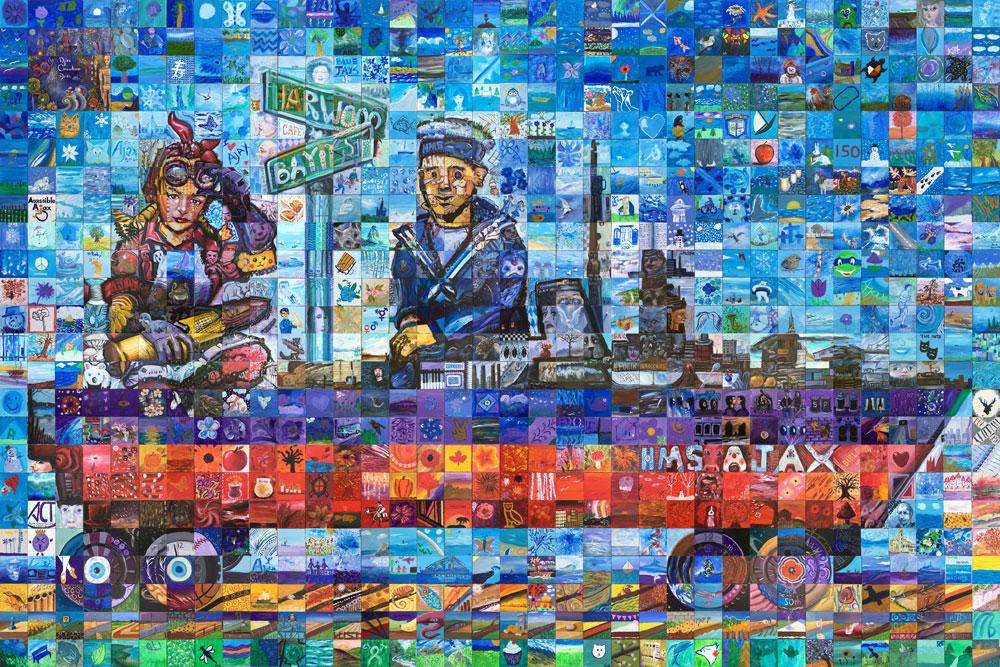 Ajax Ontario Canada 150 mural