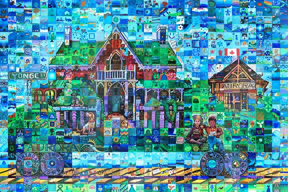 Aurora Saskatchewan Canada 150 mural