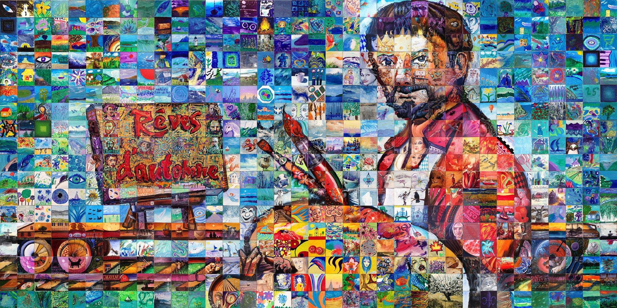 BAIE SAINT PAUL Quebec Canada 150 mural