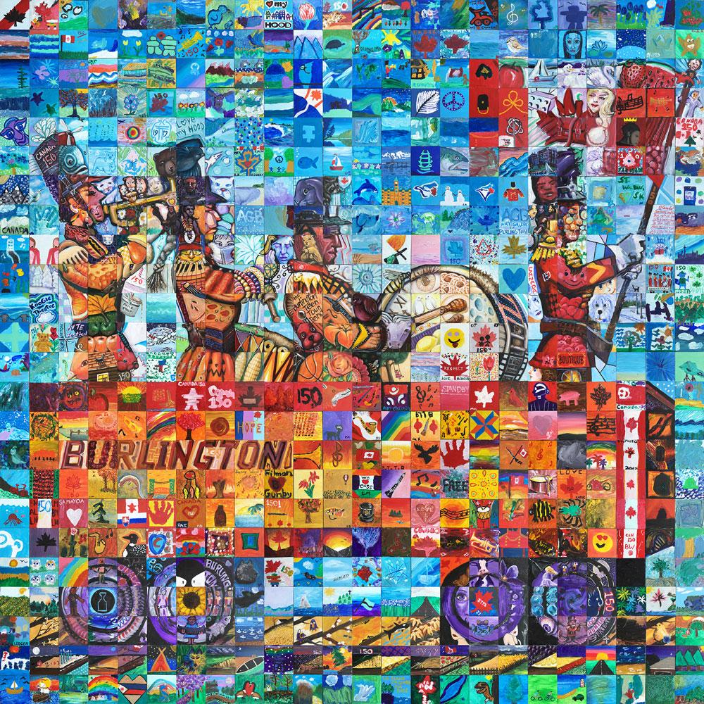 Burlington Ontario Canada 150 mural