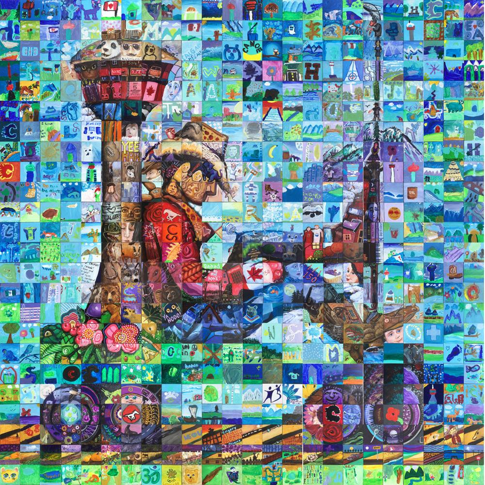 Calgary Alberta Canada 150 mural
