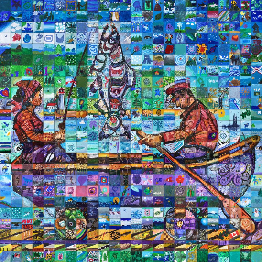 Campbell River , British Columbia Canada 150 mural