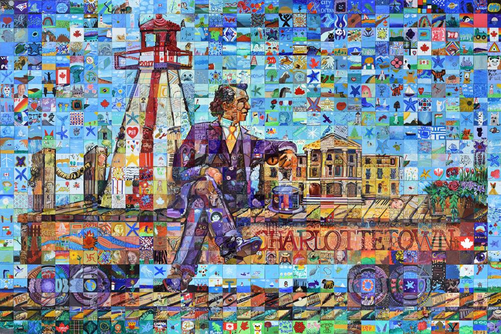 Charlottetown Prince Edward Island Canada 150 mural