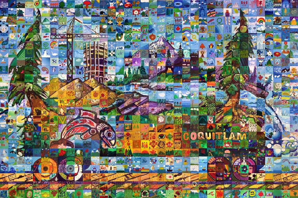 Coquitlam, British Columba Canda 150 mural