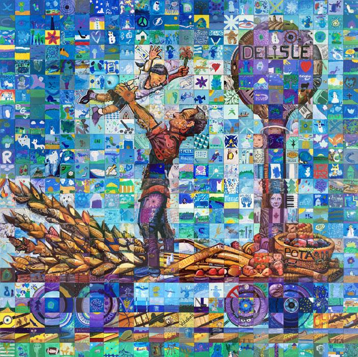 Deslisle Saskatchewan Canada 150 mural