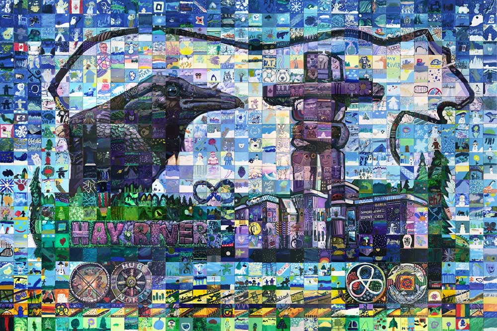 Hay River Northwest Territories Canada 150 mural