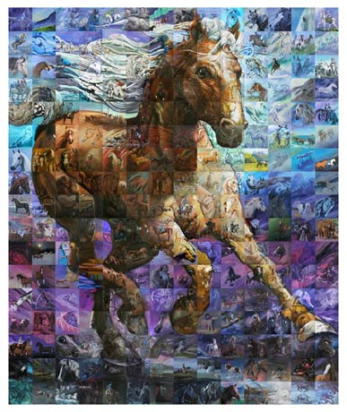 """""""Le Cadeau Du Cheval -The Horse Gift"""" 14 equine artists from around the world 2008"""