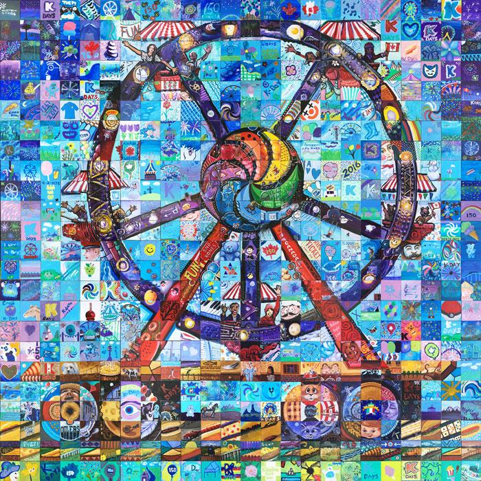 Edmonton Klondike Days Canada 150 mural