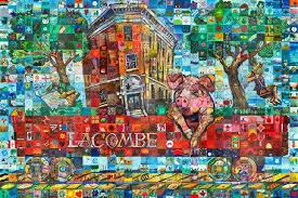 Lacombe Alberta Canada 150 mural