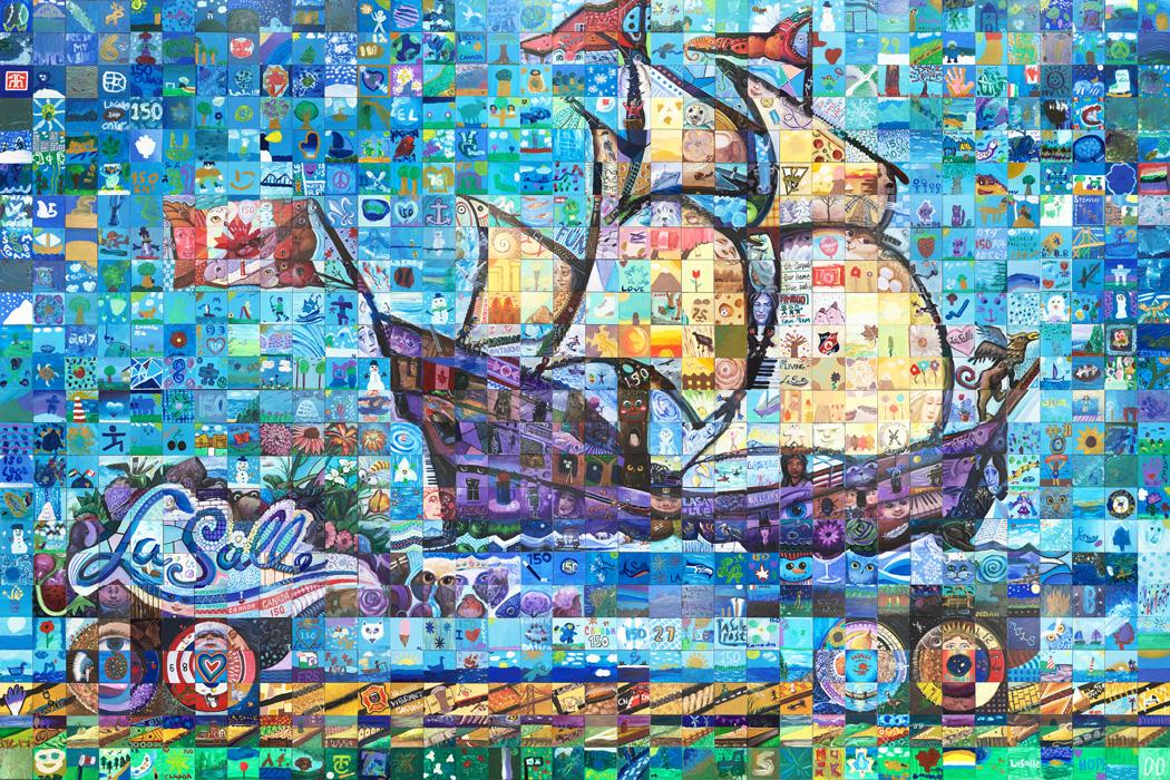Lasalle Quebec Canada 150 mural