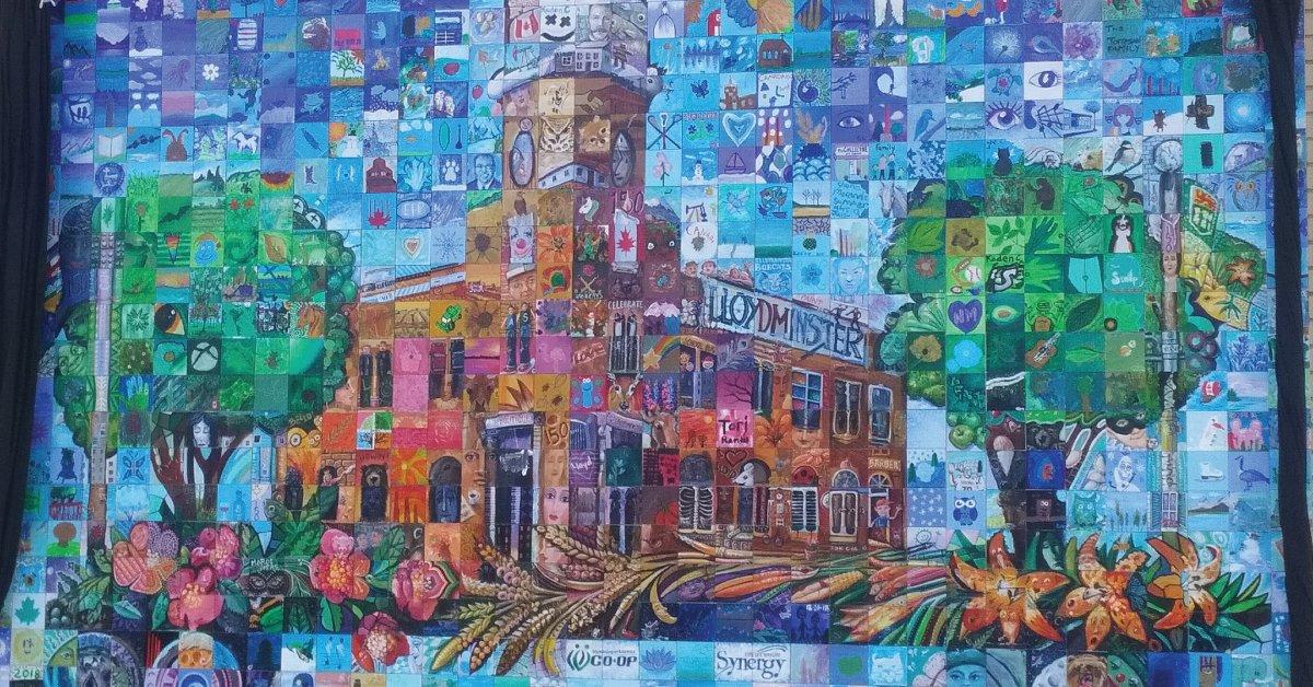 Lloydminister Alberta Sasatchewan Canada 150 mural