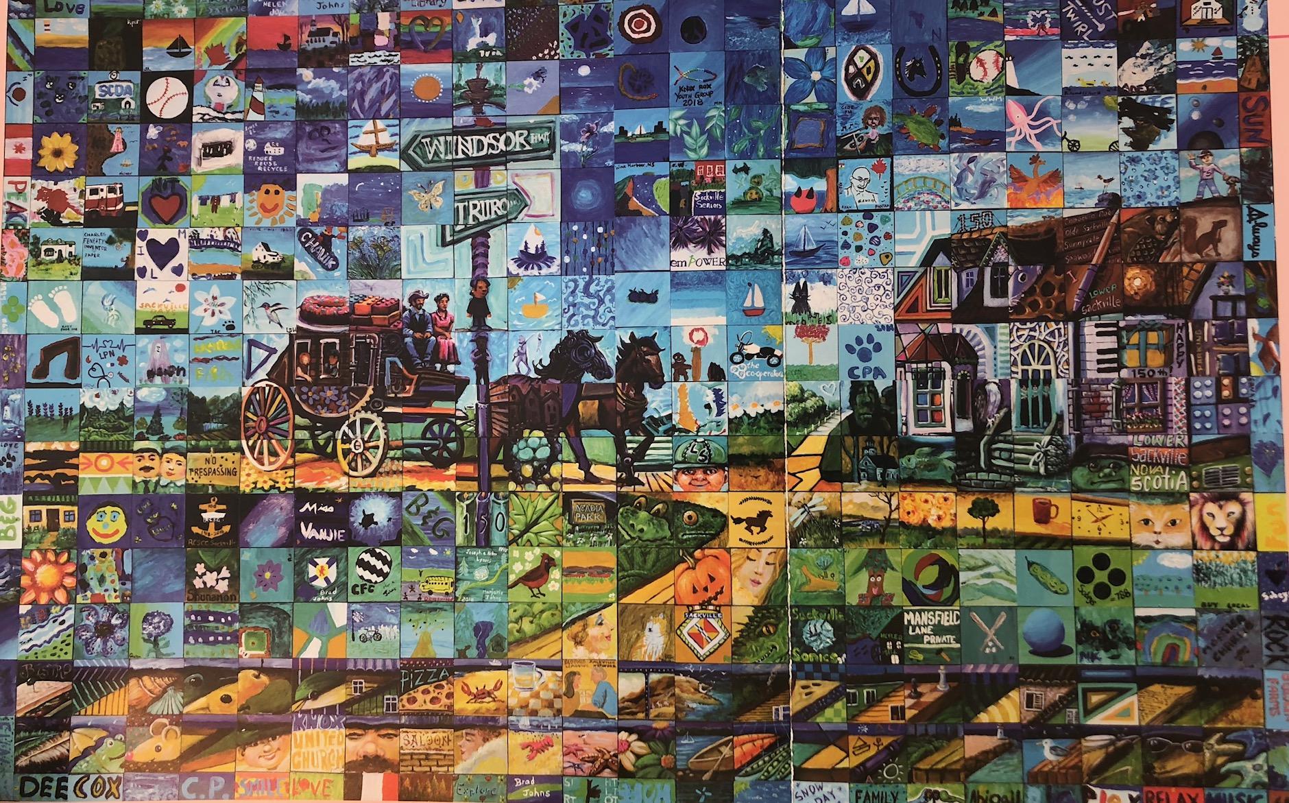 Lower Sackville Canada 150 mural 2