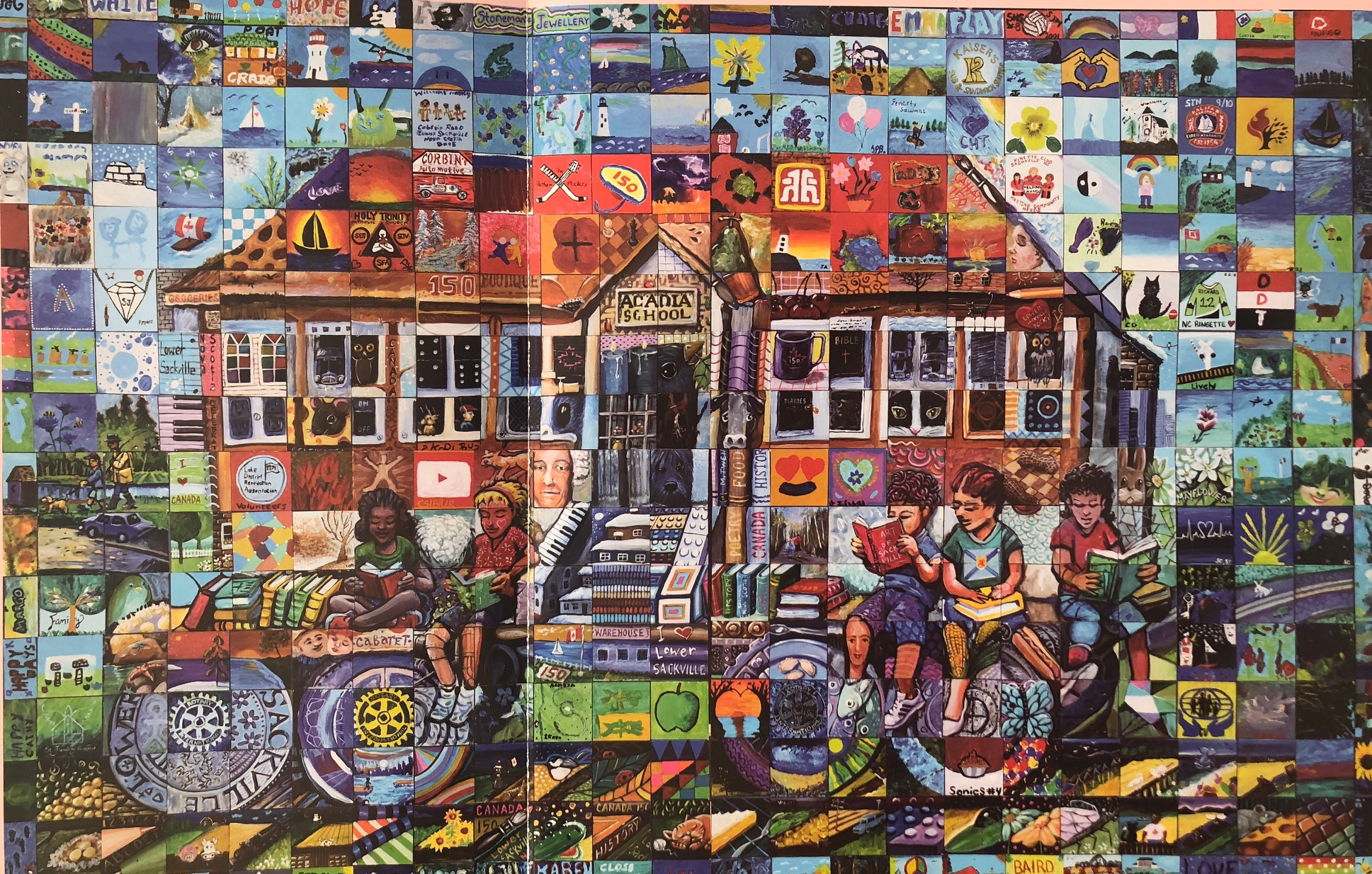 Lower Sackville Nova Scotia Canada 150 mural