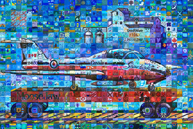 Moosejaw Saskatchewan Canada 150 Mural