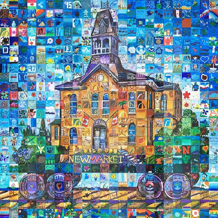 New Market Ontario Canada 150 mural