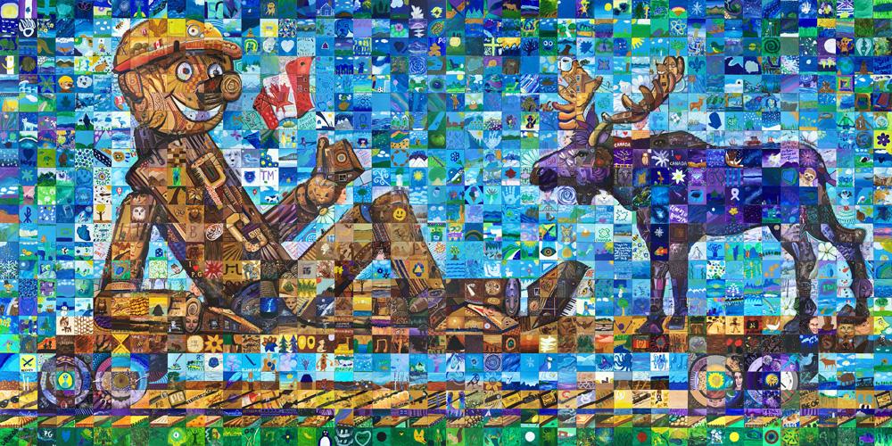 Prince George, British Columbia Canada 150 mural
