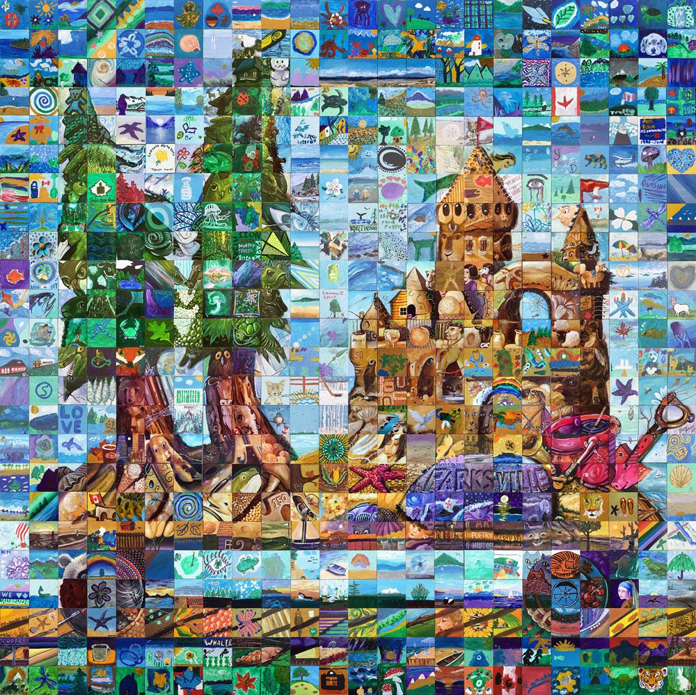 Parksville, British Columbia Canada 150 Mural