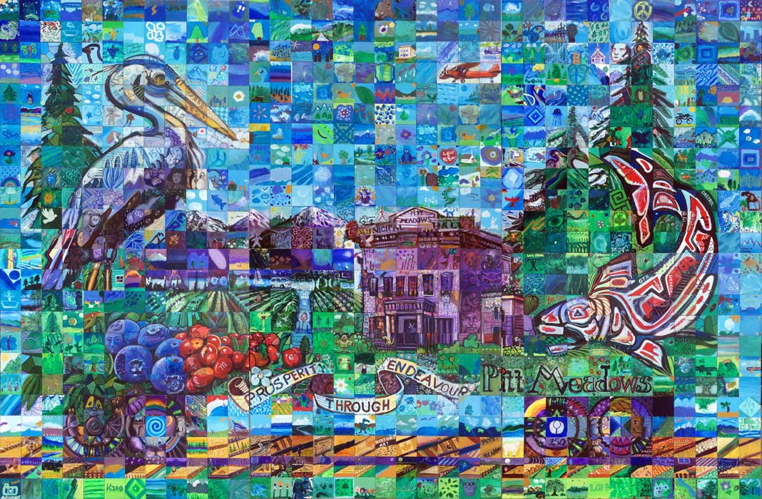 Pitt Meadows British Columbia Canada 150 mural