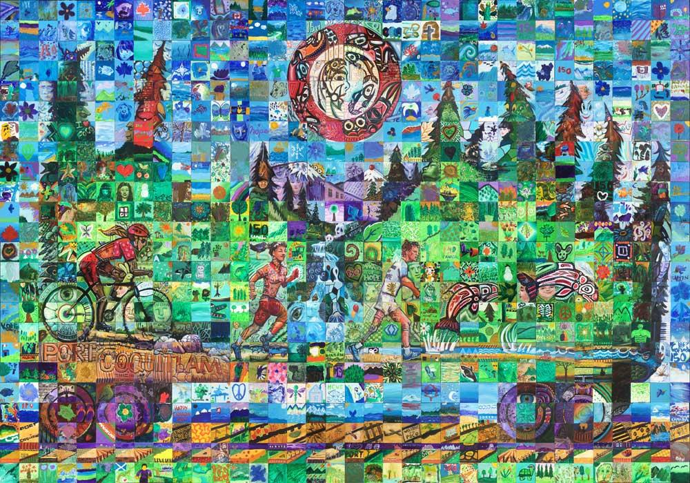 Port Coquitlam, British Columbia Canada 150 mural