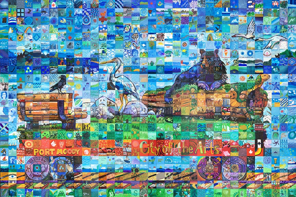 Port Moody ,British Columbia Canada 150 Mural