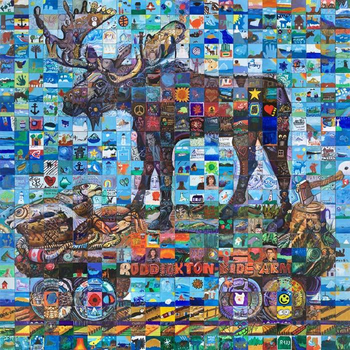 Roddickton Newfoundland Canada 150 mural