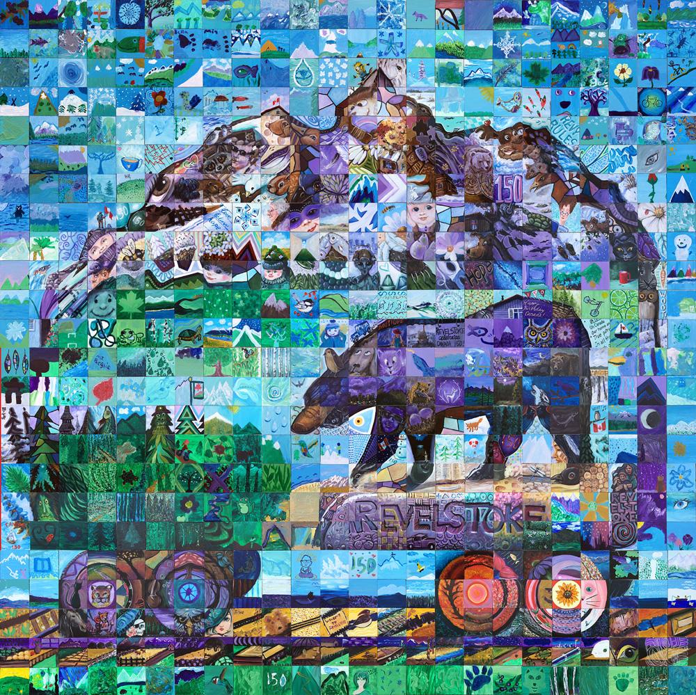 Revelstoke British Columbia Canada 150 mural
