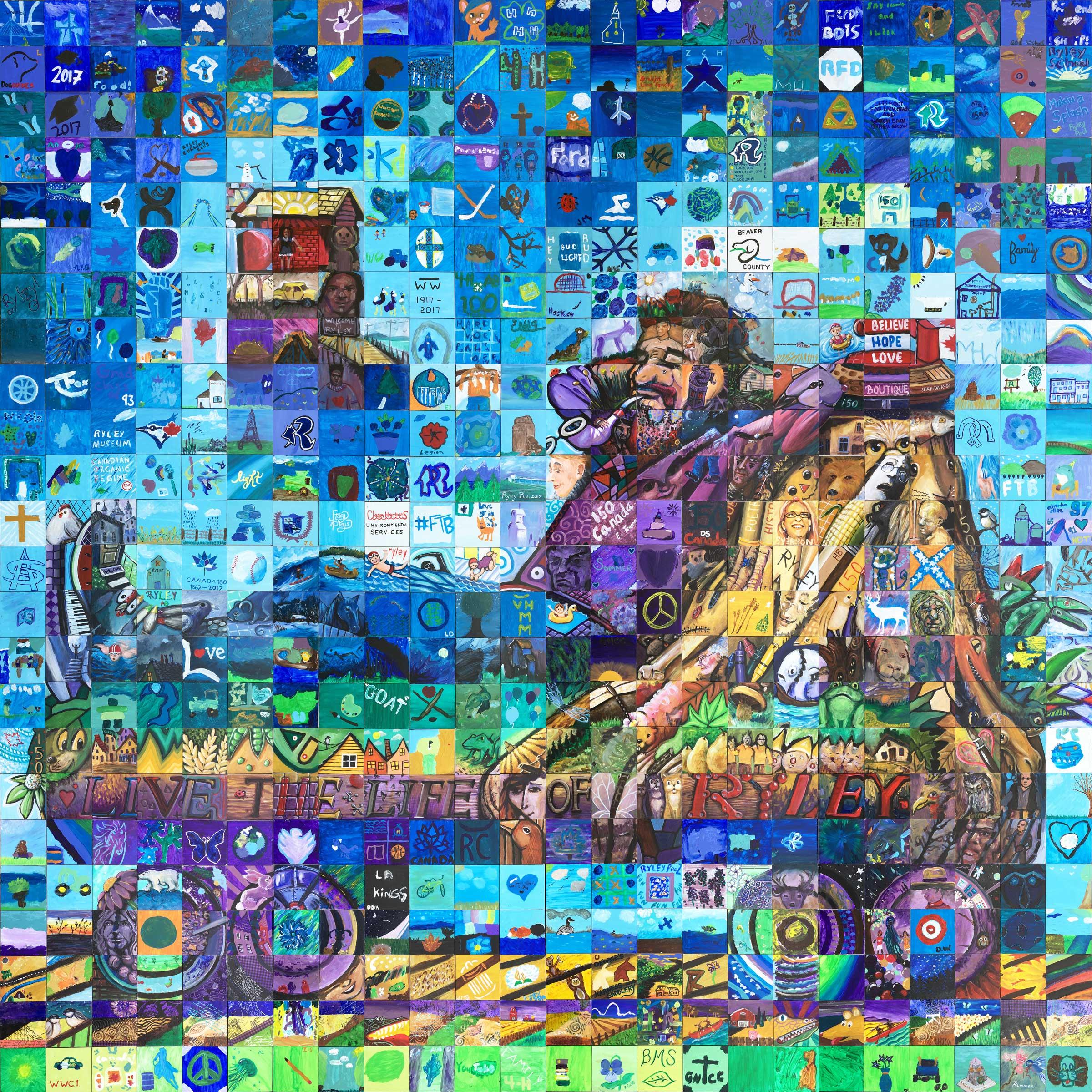 Ryley Alberta Canada 150 Mural