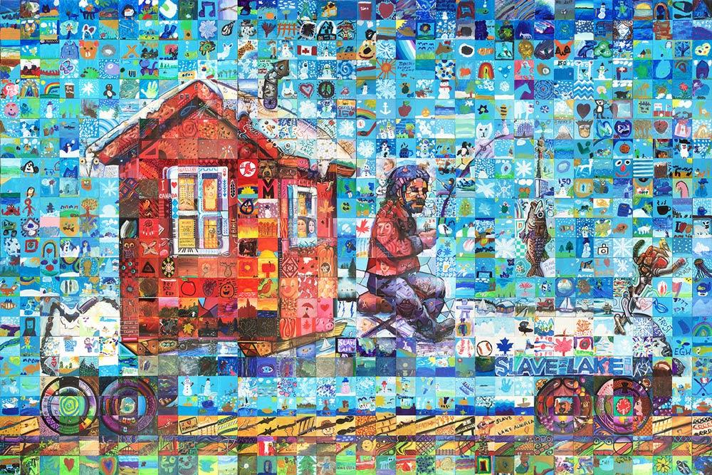 Slave Lake Alberta Canada 150 mural