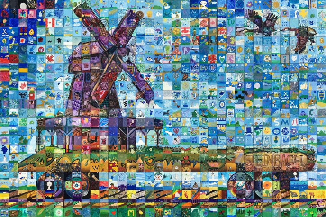 Steinbach Manitoba Canada 150 mural