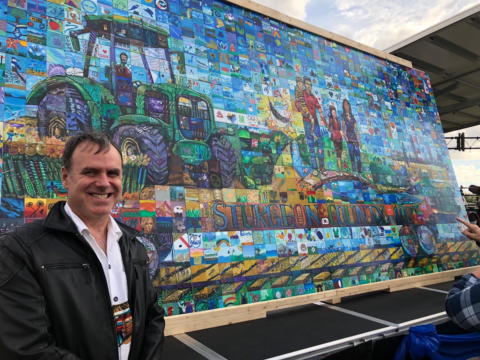 Sturgeon county canada 150 mural