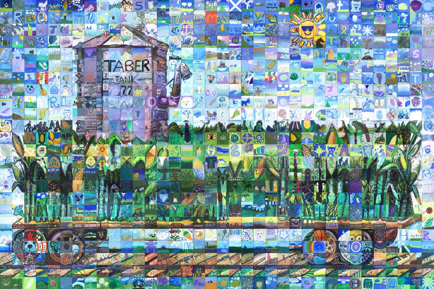 Taber , Alberta Canada 150 mural