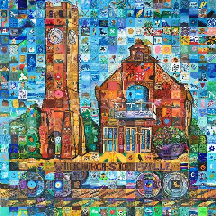 Whitechurch, Ontario Canada 150 mural