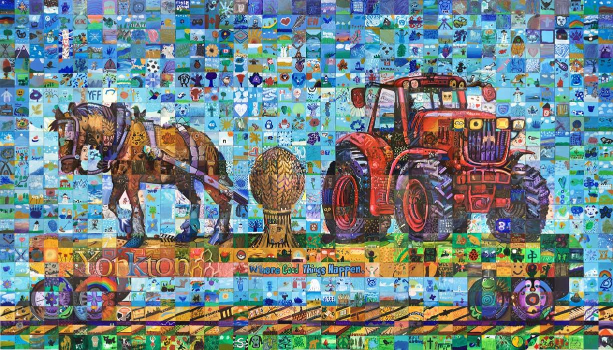 Yorkton Saskatchewan Canada 150 mural