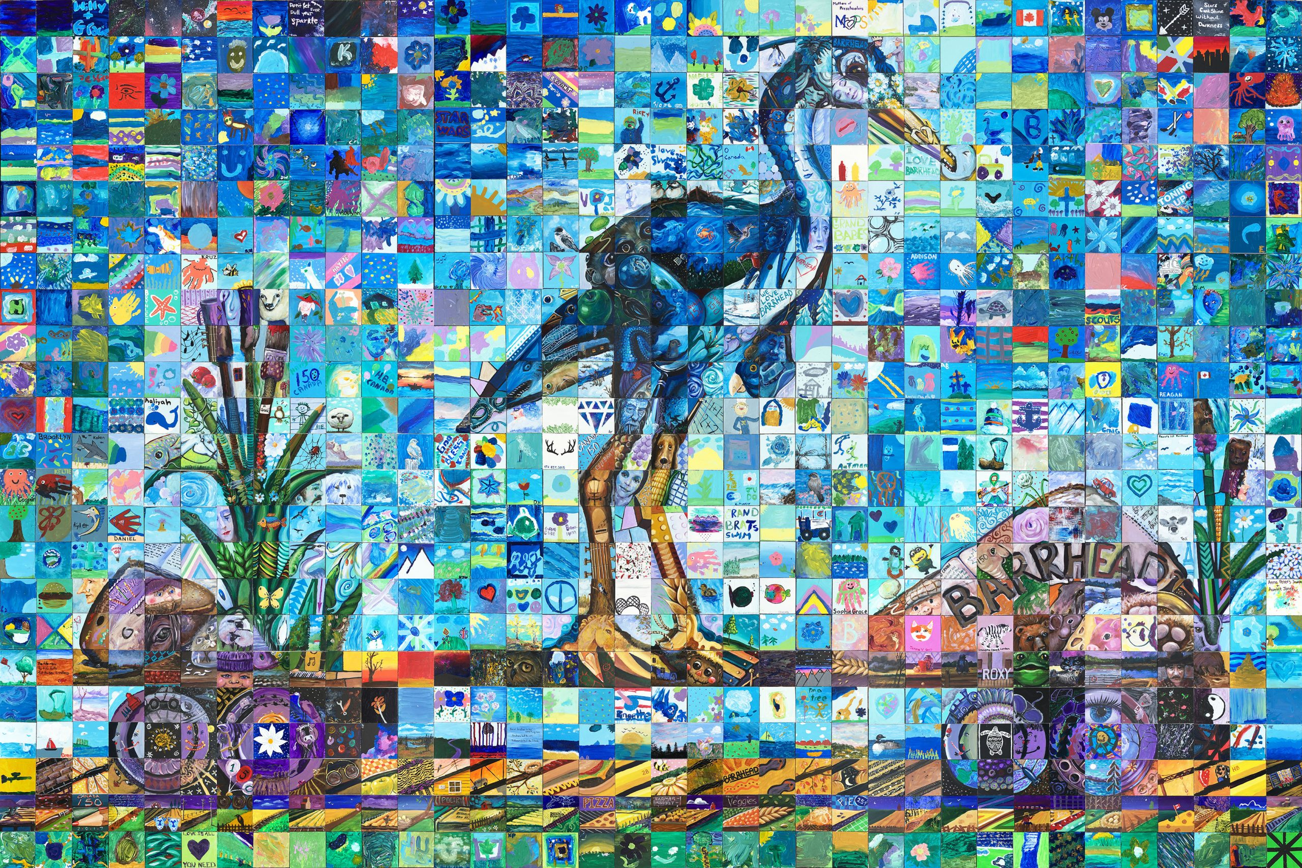 Barrhead Alberta Canada 150 mural