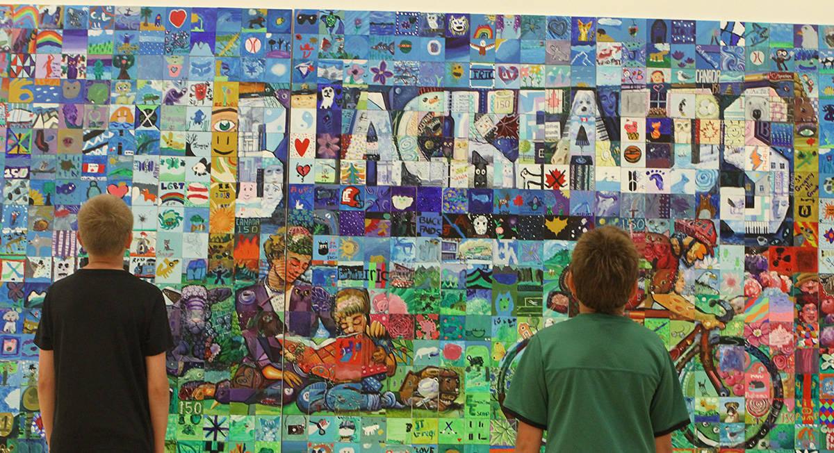 Blackfalds Alberta Canada 150 mural