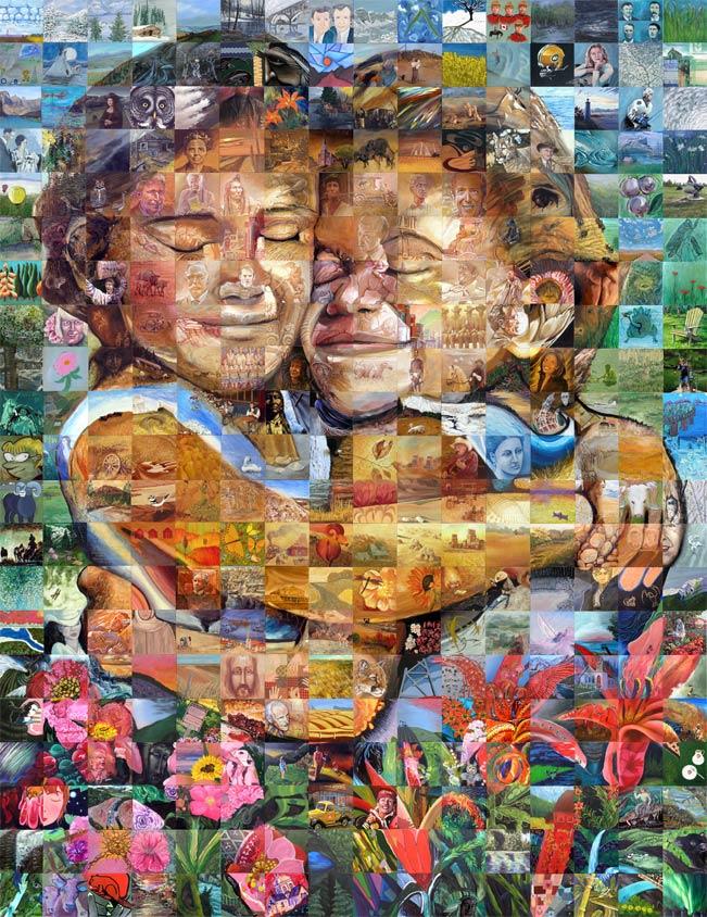 Buffalo Twins 270 artists to celebrate the centennial of Alberta and Saskatchewan 2005