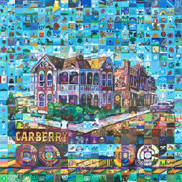Carberry Manitoba Canada 150 mural