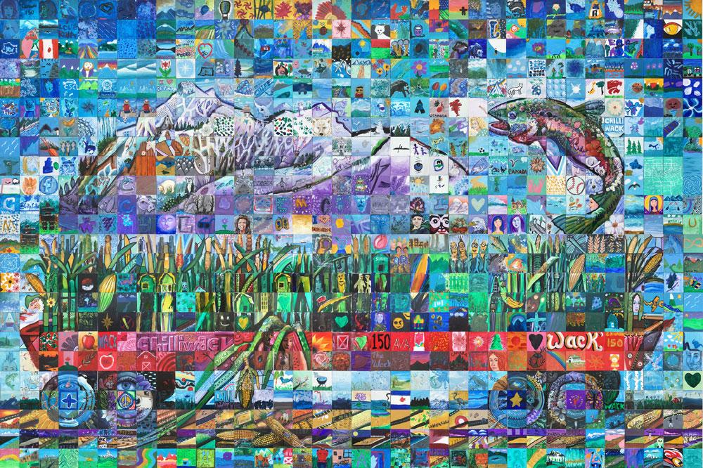 Chilliwack British Columbia Canada 150 mural