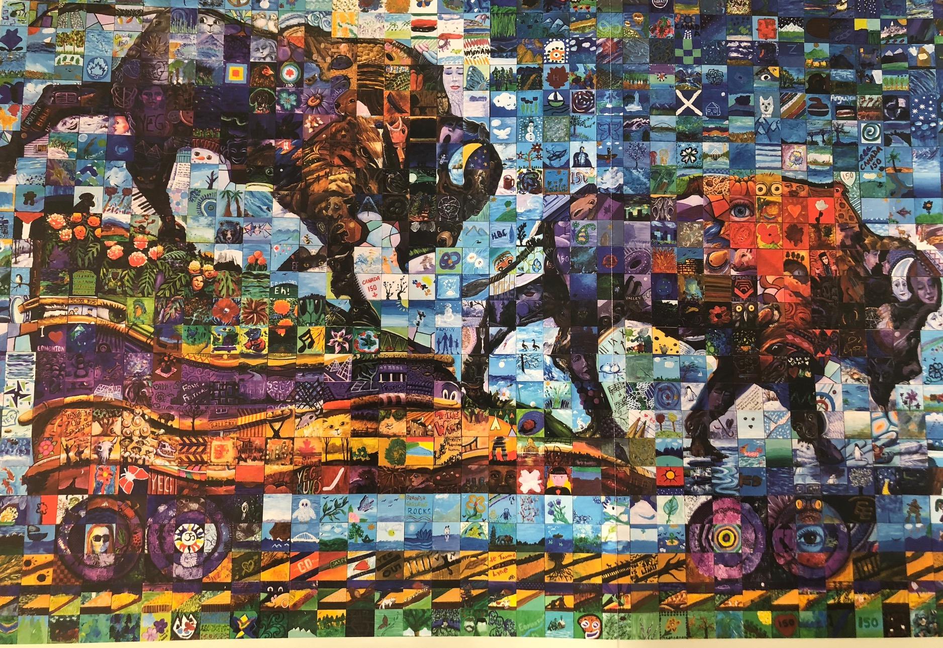 edmonton canada 150 mural