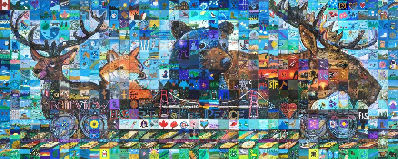 Fairview Alberta Canada 150 mural