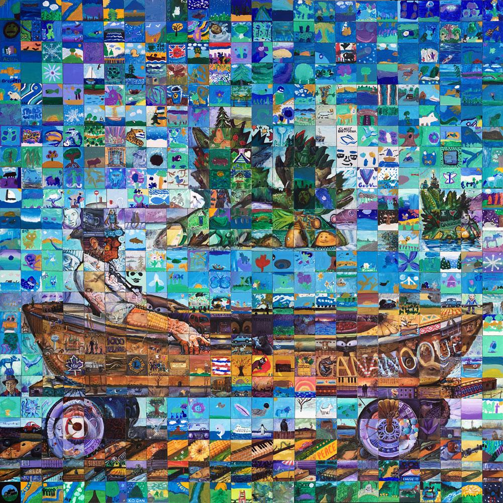Gananoque Quebec Canada 150 mural