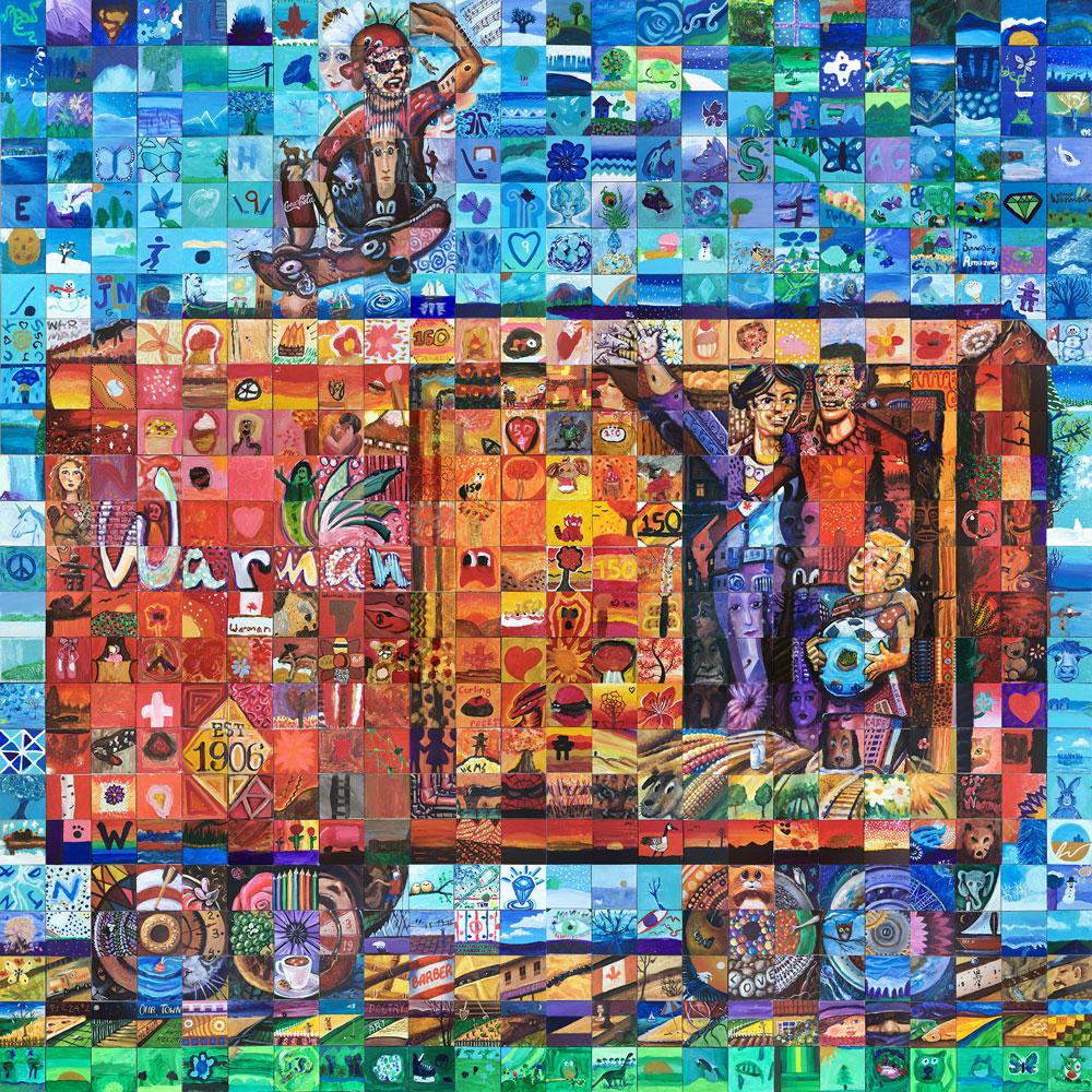 Warman Saskatchewan Canada 150 mural