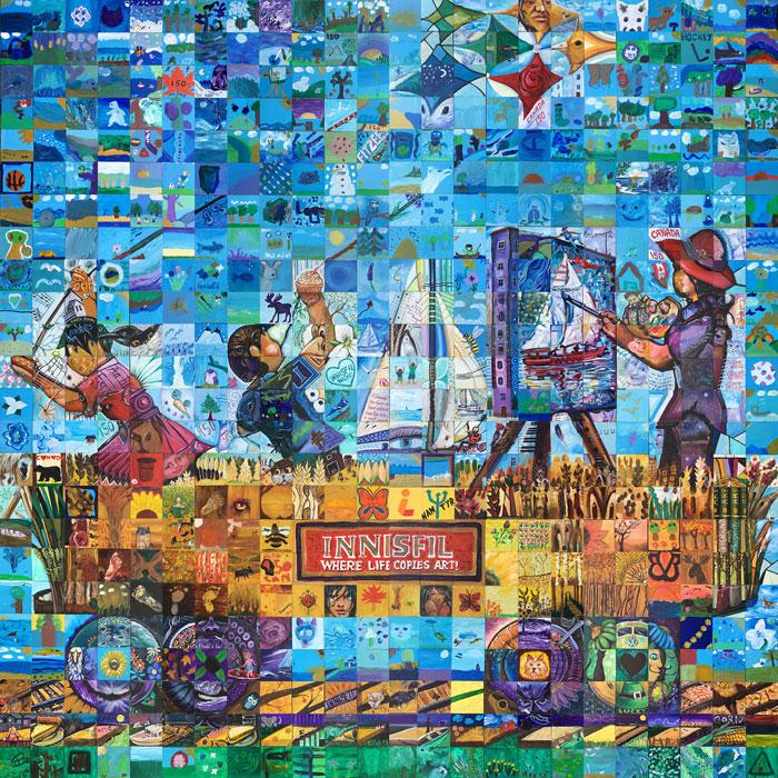 Innisfil Ontario Canada 150 mural