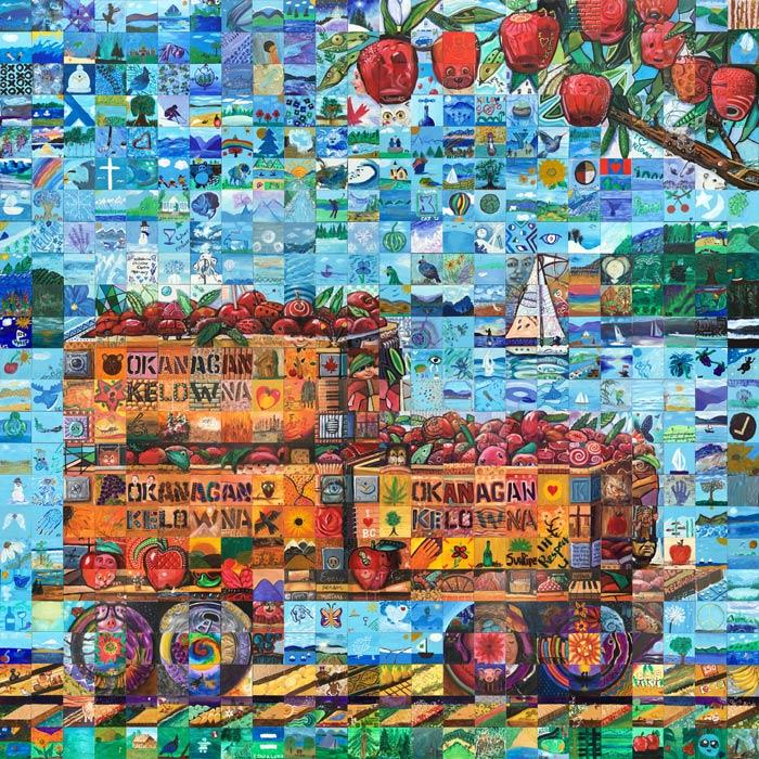 Kelowna British Columbia Canada 150 mural