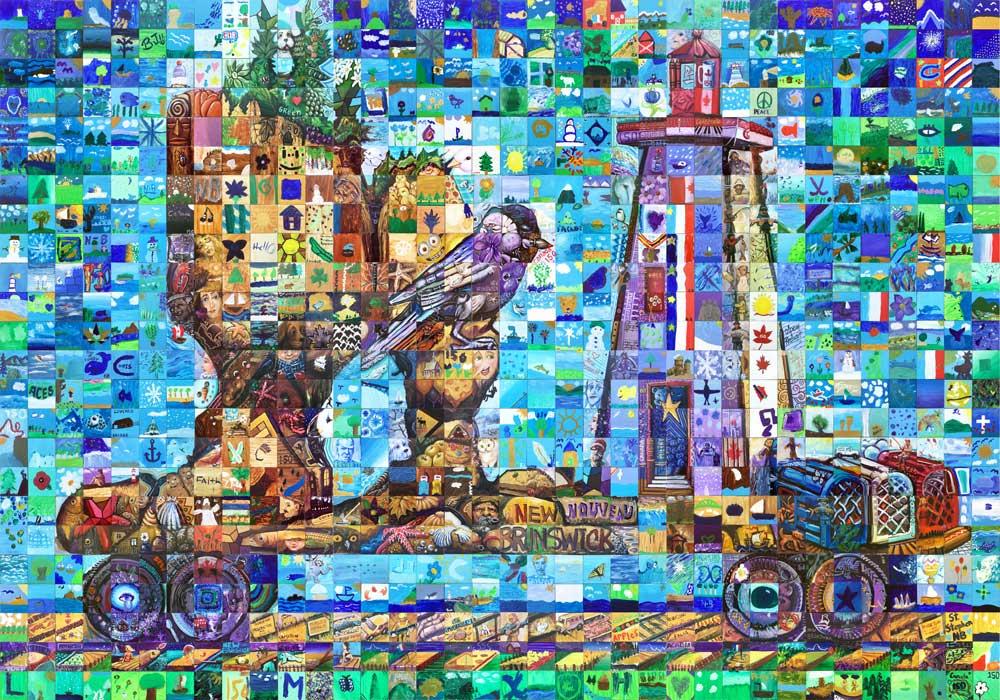 New Brunswick Canada 150 mural