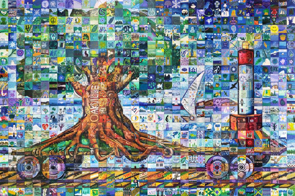 Oakvile Ontario Canada 150 mural
